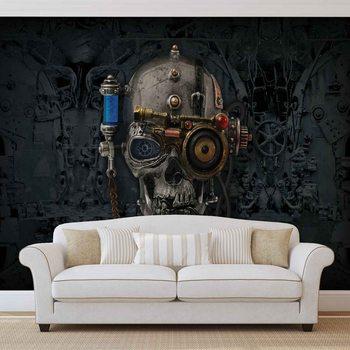 Alchemy  Art Necronaut Skull Fotobehang