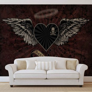 Alchemy Heart Dark Angel Tattoo Fotobehang