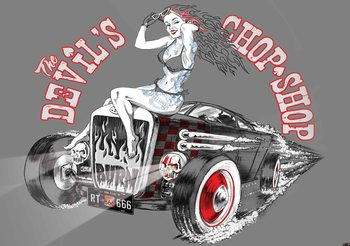 Alchemy Hot Rod Devil Car Fotobehang