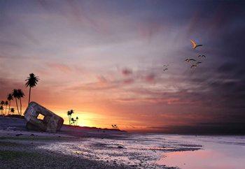 Atomic Sunset! Fotobehang