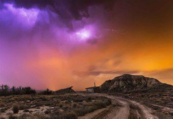 Bardenas Storm Fotobehang
