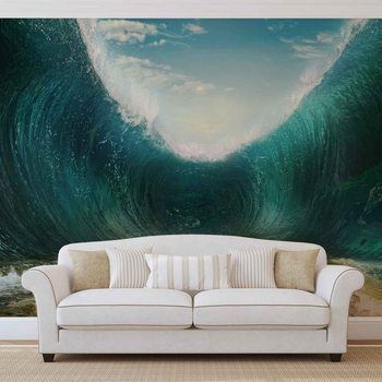 Beach Waves Sea Fotobehang