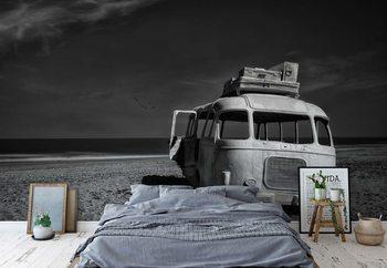 Beached Bus Fotobehang