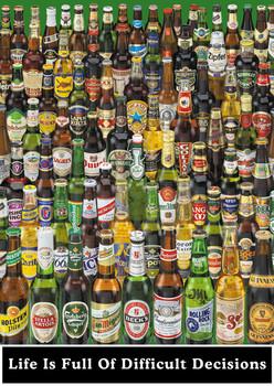 Beer - life is full ... Fotobehang