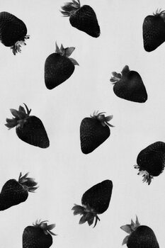 Black strawberries Fotobehang