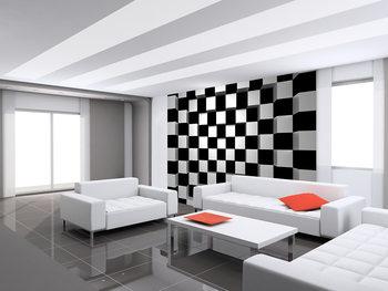 Black + White Squares Fotobehang