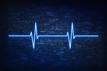 Blue Lifeline Fotobehang