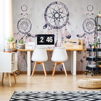 Boho-Chic Dreamcatchers Fotobehang