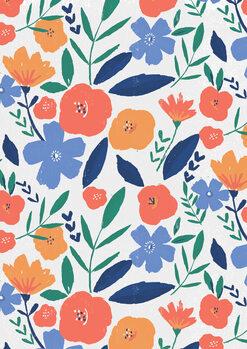 Bold floral repeat Fotobehang