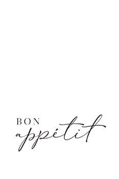 Bon appetit typography art Fotobehang