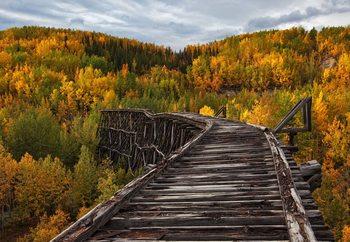 Bridge To Nowhere Fotobehang