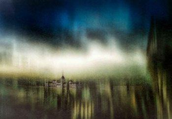 Budapest Oil Painting Fotobehang