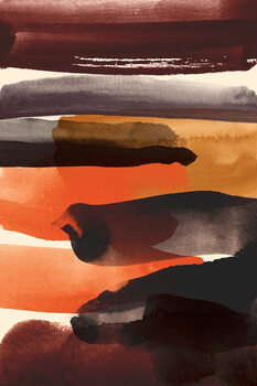 Burnt sienna Fotobehang