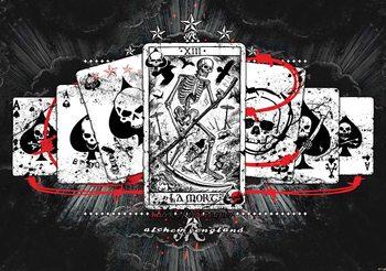 Cards Skull Tarot Fotobehang