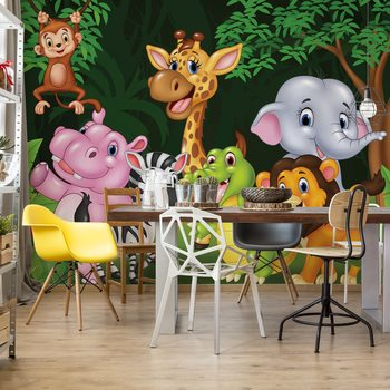 Cartoon Animals Fotobehang