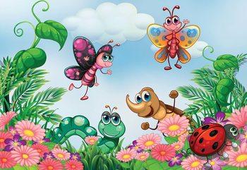 Cartoon Bugs Fotobehang