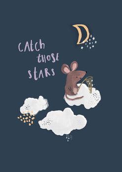 Catch those stars. Fotobehang