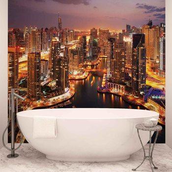 City Dubai Marina Skyline Fotobehang