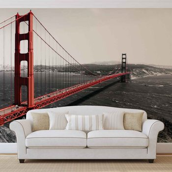 City Golden Gate Bridge Fotobehang