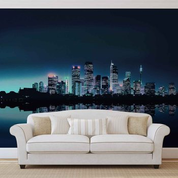 City Skyline Fotobehang