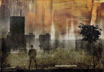 Cityscape Shadows Fotobehang