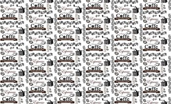 Coffee Pattern Fotobehang