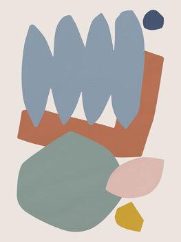 Collage Pastel II Fotobehang