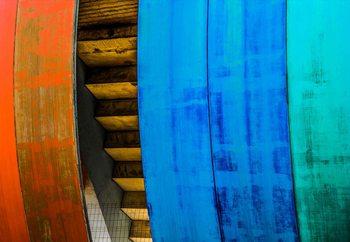 Colourful Wood Fotobehang