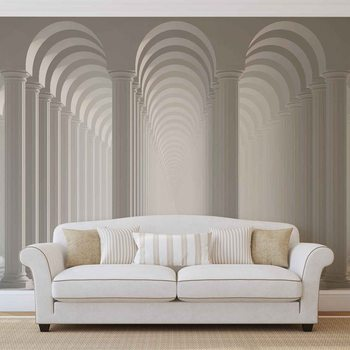 Columns Passage Fotobehang