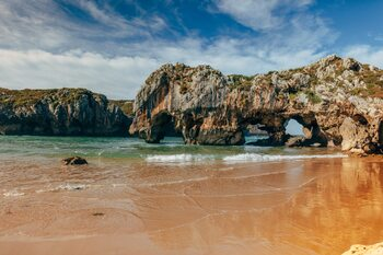 Details of the Cantabrian coast Fotobehang