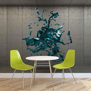 Disegno Astratto Muro Cemento con Vernice Fotobehang