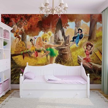 Disney Fairies Tinker Bell Rosetta Klara Fotobehang