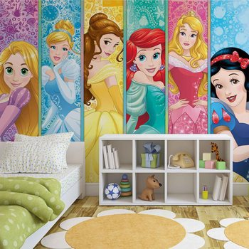Disney Princesses Aurora Belle Ariel Fotobehang