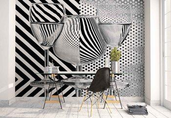 Dots And Stripes Fotobehang