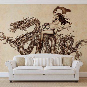 Dragon Tattoo Fotobehang