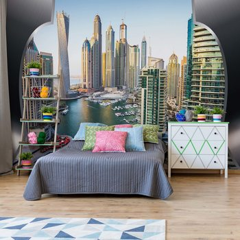 Dubai City Skyline Fotobehang