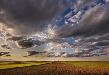 Farmland Under A Big Sky Fotobehang