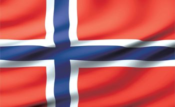 Flag Norway Fotobehang