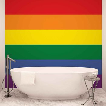 Flag Rainbow Gay Pride Fotobehang