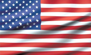 Flag United States USA Fotobehang