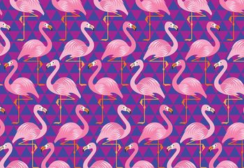Flamingo Pattern Fotobehang