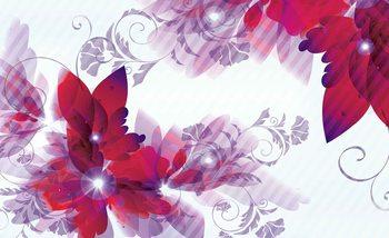 Flowers Abstract Fotobehang