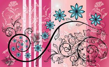 Flowers Floral Pattern Fotobehang