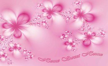 Flowers Home Pink Fotobehang