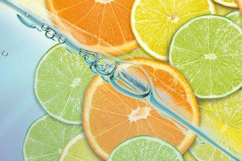 Food Fruits Lime Orange Lemon Fotobehang