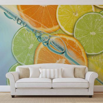 Food Fruits Lime Orange Lemon Fotobehang