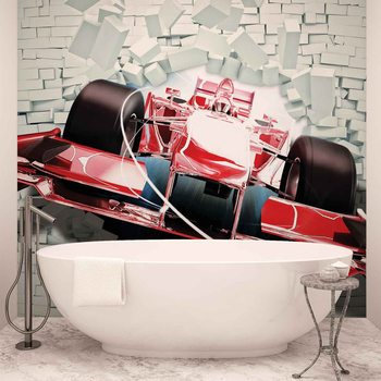 Formula 1 Racing Car Bricks Fotobehang