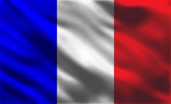 French Flag France Fotobehang