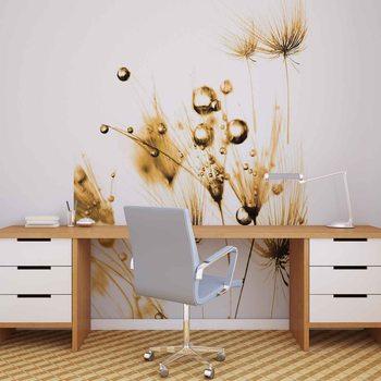 Golden Dandelion Fotobehang