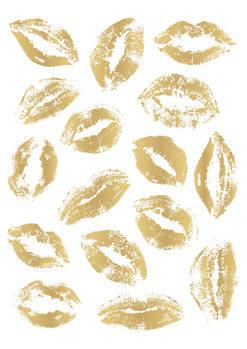 Golden Kisses Fotobehang